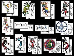 Tribal kokopelli tattoo designs