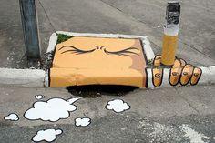 Street art smoke