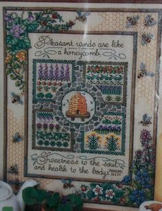 Картинки по запросу Gathering Honey - Cross Stitch and Country Crafts - MayJune 1987