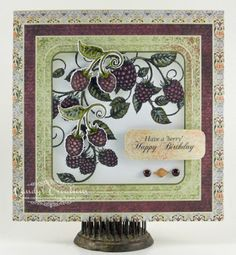"""""""Berry"""" Happy Birthday Card by Candy S. - Cards and Paper Crafts at Splitcoaststampers"""