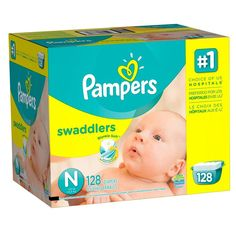 Pampers Swaddlers Diapers Size N Giant Pack 128 Count Packaging May Vary Dry New #Pampers
