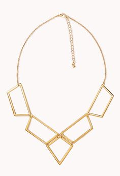 Cutout Geo Bib Necklace   FOREVER21