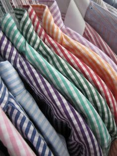 gingham shirts- I have 5 colors of gingham shirts now....not sure what I have started!