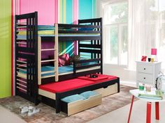 Two-Storied beds :: Bunk bed Mattress Covers, Bed Mattress, Childrens Bunk Beds, Bunk Bed With Trundle, Canopy Curtains, Ikea, Built In Desk, Bed Sizes, Wood Joinery