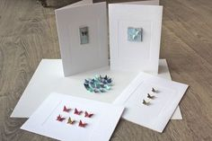 Cards made with butterfly punch