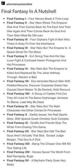 Final Fantasy in a Nutshell