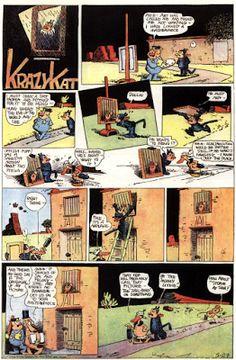 George Herriman: Sunday Page di Krazy Kat del 28/5/1936 - Da: Il mondo degli animali - Il topo nel mito, nella fiaba, nel fumetto e nella letteratura