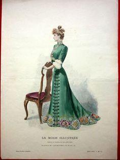 LA Mode Illustrée Toilette DE MME Louise Piret N° 17 1901 Signée D