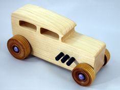 Wooden Toy Trucks, Handmade Wooden Toys, Handmade Gifts, Puzzles For Toddlers, Wood Toys, Lego, Hot Rods, Woodworking Projects, 1932 Ford