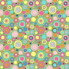 Ditsy Circles fabric by angelaanderson for sale on Spoonflower - custom fabric, wallpaper and wall decals