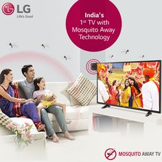 Introducing India's first Technology TV, that transforms the nearby area into a mosquito-free zone making TV watching with family an utter delight Television Online, Buy Tv, Tv Watch, Tv App, Advertising Photography, Advertising Design, Smart Tv, Tvs, Videography