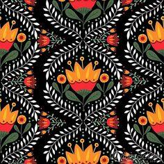 "lindsayschoenart - ""Folk Flora""  #lindsayschoenart #art #graphicdesign #illustration #patterndesign #textiledesign #surfacedesign #pattern #print #ipadpro #adobe #illustrator #folkart #inspired #colorful #floral #botanical #procreateapp #surfacespatterns"