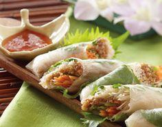 Oscar party menu: thai salad rolls