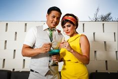 Vibrant, Colourful 1960s Mod Style Palm Springs Elopement Shoot | Bridal Musings Wedding BlogBridal Musings Wedding Blog