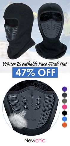 Winter Fleece Breathable With Mesh Mouth Full Face Mask Hat Cycling Masks Hoods . Winter Fleece Breathable With Mesh Mouth Full Face Mask Hat Cycling Masks Hoods Hats Trendy Fashion, Winter Fashion, Mens Fashion, Winter Gear, Mens Winter, Winter Hats, Cycling Mask, Airsoft Mask, Half Face Mask
