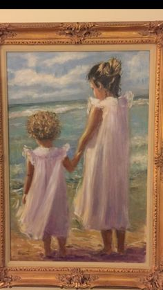 This painting was delivered right before Christmas........I adore painting children on the beach !!!!
