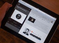 Electronic DJ Web Application by Benn Raistrick, via Behance