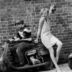 Susannah York (small) by Philip Townsend English Actresses, British Actresses, Actors & Actresses, Susannah York, Swinging London, Scooter Girl, Vespa Girl, Bleach Blonde, Fashion Designer