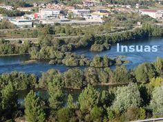 Insua: pequena illa no curso dun río. No medio da insua naceu un salgueiro. River, Outdoor, Outdoors, Rivers, The Great Outdoors