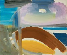 Ivon Hitchens - White Sea Clouds, 1967. Oil on canvas