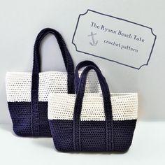 """172 Me gusta, 12 comentarios - Joni-Crochet Pattern Designer (@rubywebbscrochet) en Instagram: """"The Ryann Beach Tote Crochet Pattern in 2 Sizes is now on Etsy and Ravelry (link in bio). Perfect…"""""""