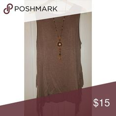 Light brown fringe tank top •Only worn a couple times  •Great condition  •Smoke/pet free home I will ship immediately👍😊 jodifl Tops Tank Tops