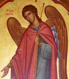 Holy Archangel Gabriel Religious Icons, Religious Art, Catholic Archangels, San Gabriel, Archangel Gabriel, Religious Paintings, My Guardian Angel, Byzantine Art, Angels Among Us