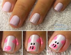 Pig nails. Thinking about doing this in black and pink for our Hampshire pigs