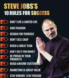 Success tips from Steve Jobs Quotes Dream, Life Quotes Love, Motivational Quotes For Success, Positive Quotes, Inspirational Quotes, Citations Business, Business Quotes, Job Quotes, Wisdom Quotes