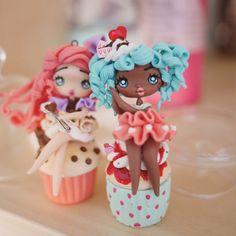 Cupcake Doll Azul por Ladyarcoiristienda en Etsy