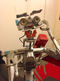 Johnny Five customised plastic toy from movie Short Circuit