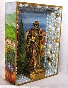 Oratório São Judas Tadeu (20X15X55) Encomendas Watsapp 11 942507292 + santos em prendasdemaira.wix.com/santosedivindades