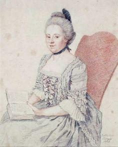 """Jean-Etienne Liotard (Swiss-French artist, 1702-1789) Charlotte Marie Cazenove 1765"""