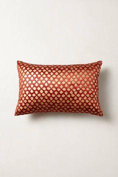 Silk-Stitched Floret Pillow - anthropologie.com$78