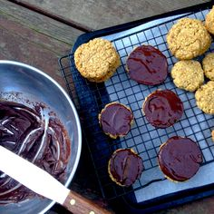 One nibble and you're nobbled - Homemade chocolate hobnobs