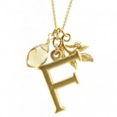 David Aubrey initial necklace