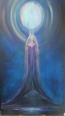 Lady of Avalon from Goddess artist Tiana. This image is also the cover for the Lady of Avalon Goddess Energy Sprays available at Goddess Temple Gifts Star Goddess, Divine Goddess, Goddess Art, Moon Goddess, Goddess Tattoo, Sacred Feminine, Divine Feminine, Die Nebel Von Avalon, Mists Of Avalon