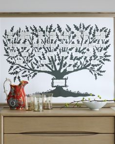 Make A Family Tree | Martha Stewart Crafts, November 2010.  I love this slide show of family tree ideas for the home, but this template from illustrator Melinda Beck is my favorite.