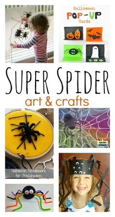 Super spider crafts and art ideas for kids