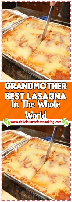 Grandmother Best Lasagna In The Whole World - healthy recipes & list of dishes and heart healthy recipes