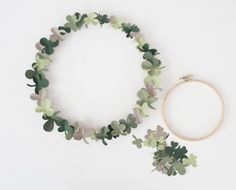 St. Patrick's Day Party Ideas: DIY Shamrock Wreath