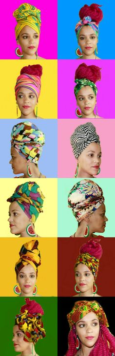 Colorful Turban Headwraps | African Headwrap | Flower Headwrap | Natural Hair Accessories |