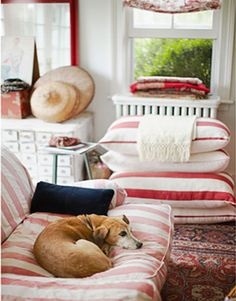 red and white cottage decor 2