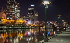 Southbank, Melbourne at night.
