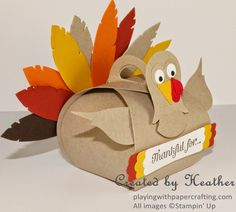 Playing with Papercrafting: Happy Thanksgiving, Canada! Have some fun creating this cute Thanksgiving Turkey using the Curvy Keepsake Box die. Happy Thanksgiving Canada, Thanksgiving Messages, Thanksgiving Greetings, Thanksgiving Treats, Thanksgiving Turkey, Thanksgiving Decorations, Maya Angelou, Fall Cards, Christmas Cards
