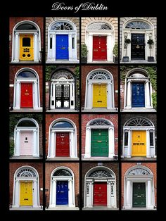 Doors of Dublin by John of Dublin, via Flickr