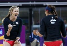 YEAH! Misty May and Kerri Walsh