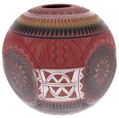 Navajo Four Winds Pottery - Hand Crafted Pot by Native American Artist Bernice Watchman Lee KS65598 www.silvertribe.com