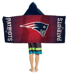 """$24.99 - NFL New England Patriots Youth Hooded Towel by The Northwest - Wrap up your little one in an Officially licensed NFL Youth Hooded Towel by The Northwest Company! This 22"""" L x 51"""" W, 100% cotton hooded wrap towel features your football team's logo in the center of multiple polka-dots. Machine washable."""