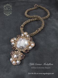 Fifth Corner Medallion - Limited Edition Beading Kit  https://www.mgsdesigns.net/store/index.php?main_page=index&cPath=92&zenid=ba31aaa6e660ff8983c11a46bedc8bf4